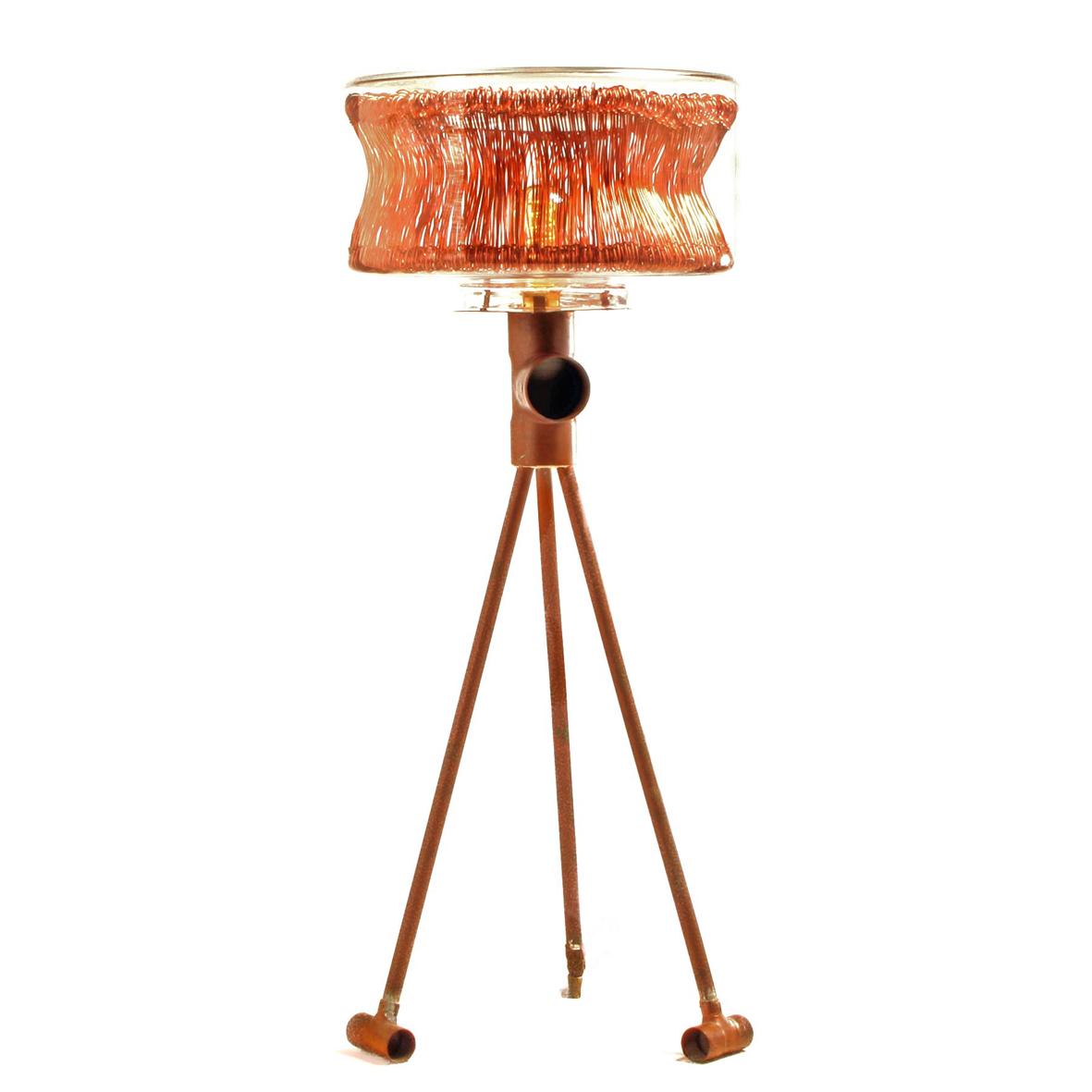 Object In de tang 01 met lamp